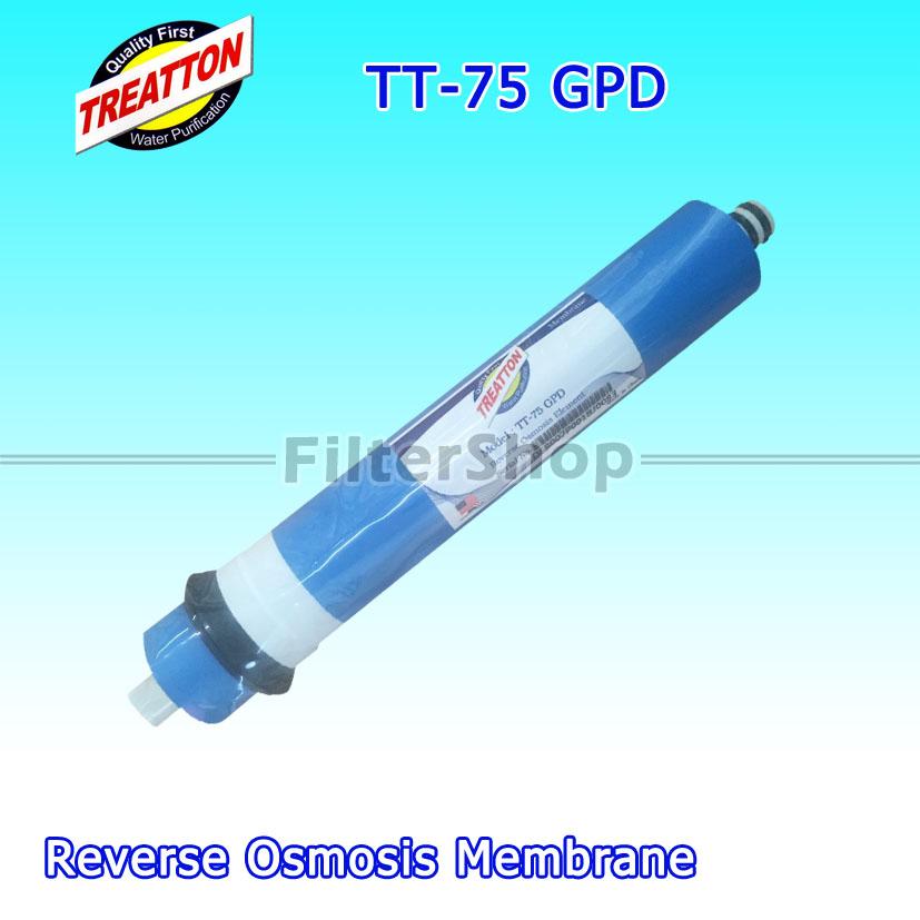 ไส้กรองน้ำ RO Membrane TREATTON TT-75 GPD
