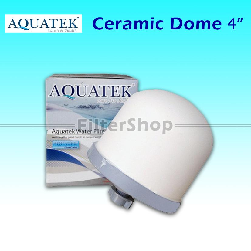 ไส้กรองน้ำ Ceramic Dome Aquatek ขนาด 4 นิ้ว 0.5 Micron