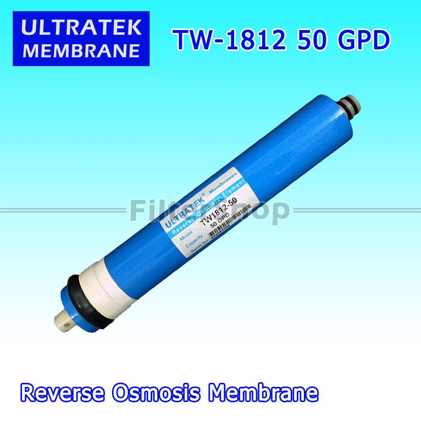 ไส้กรองน้ำ RO Membrane ULTRATEK TW-1812-50 GPD