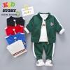 PRE-ORDER ชุดกีฬาเด็ก เซต 3 ชิ้น เสื้อแขนยาว เสื้อแจ็คเกต กางเกงขายาว