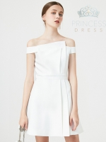 A007 Emily White Princess Dress