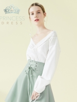 B005 White Rose Princess Dress