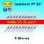 ไส้กรองน้ำ Sediment PP 20 นิ้ว x 2.5 นิ้ว 5 Micron Pett Filter แพ็ค 25 ชิ้น