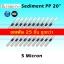 ไส้กรองน้ำ Sediment PP 20 นิ้ว x 2.5 นิ้ว 5 Micron Clean Pure แพ็ค 25 ชิ้น