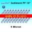 ไส้กรองน้ำ Sediment PP 10 นิ้ว x 2.5 นิ้ว 5 Micron UniPure แพ็ค 25 ชิ้น